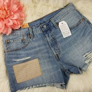 NWT Original Fit Button Fly Jean Cut Off Shorts 30